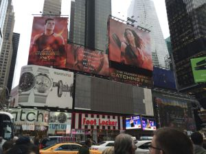 Times Square, featuring Louisville native Jennifer Lawrence