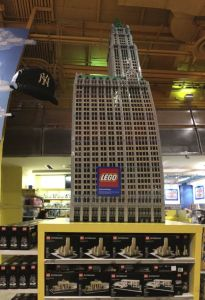 Times Square, Toys R Us Lego sculpture